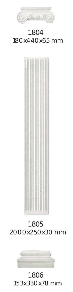 Декоративная пилястра Home Decor 180, лепной декор из полиуретана